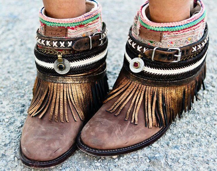 Boho Embellished Booties