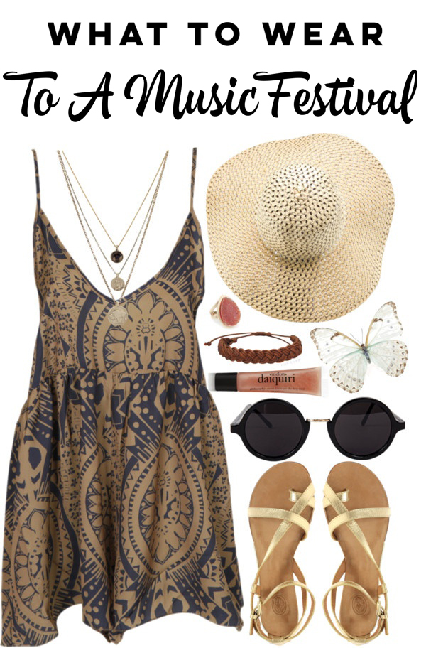 What to wear to a music festival - outfit idea