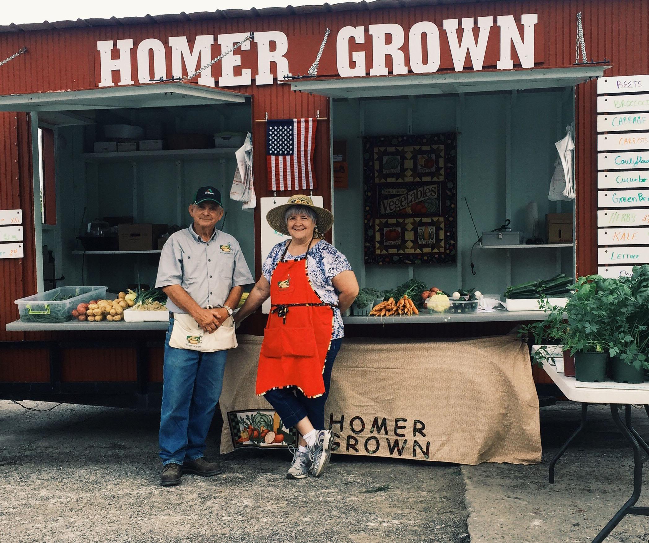 Homer Grown Farmer's Market Stand