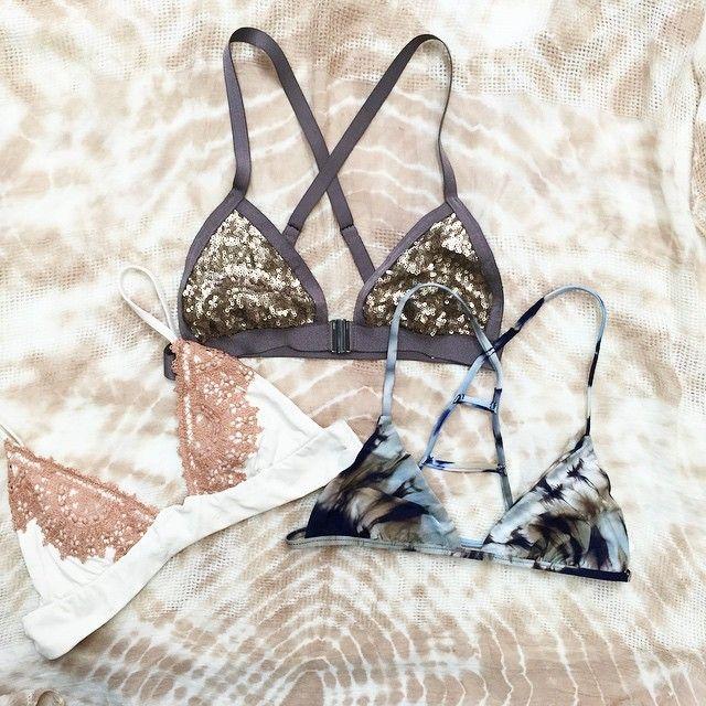 Sequin Bikini Top