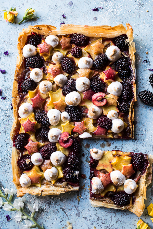 Honey, Stone Fruit, and Blackberry Tartlette