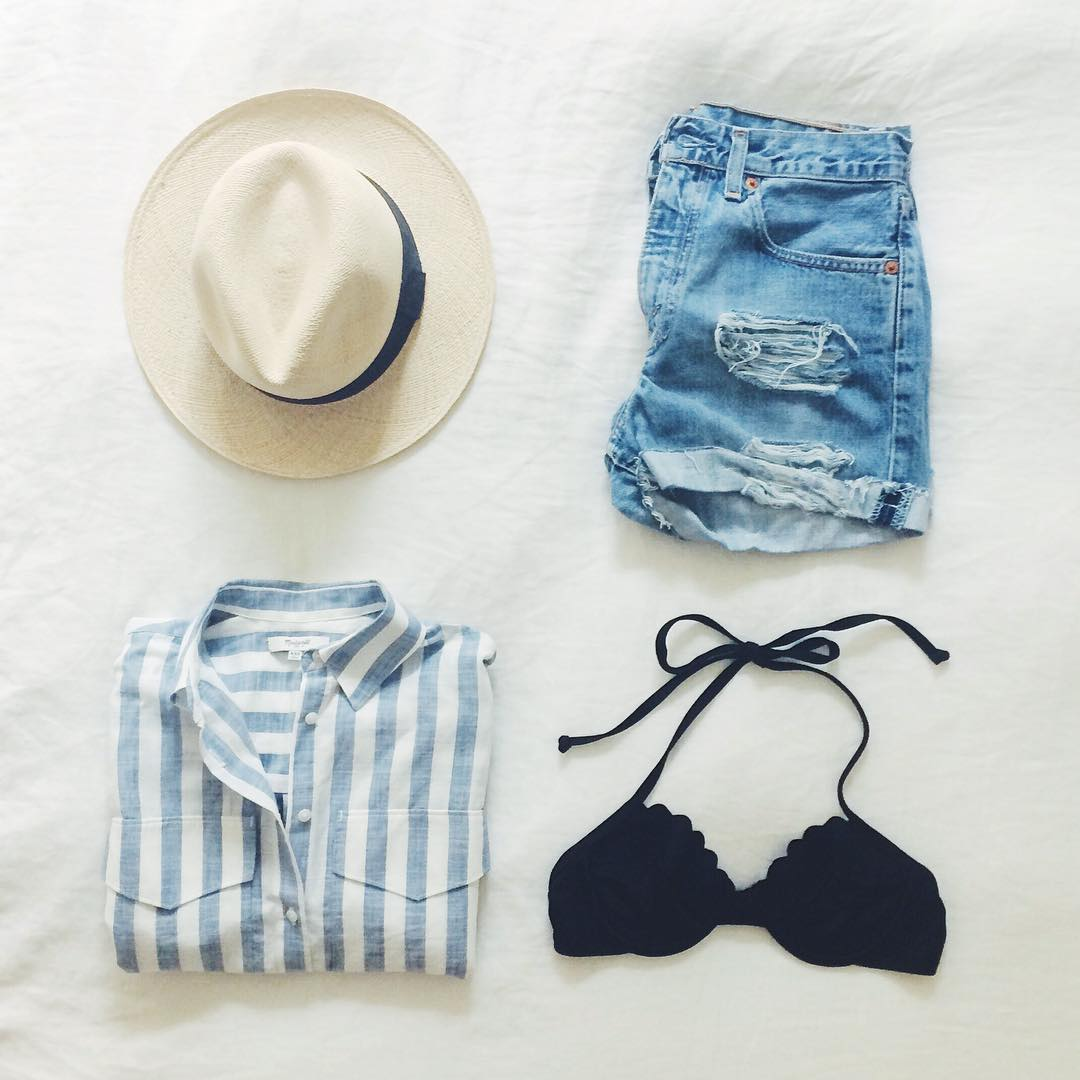 What a perfect outfit for the beach!  Found Here .