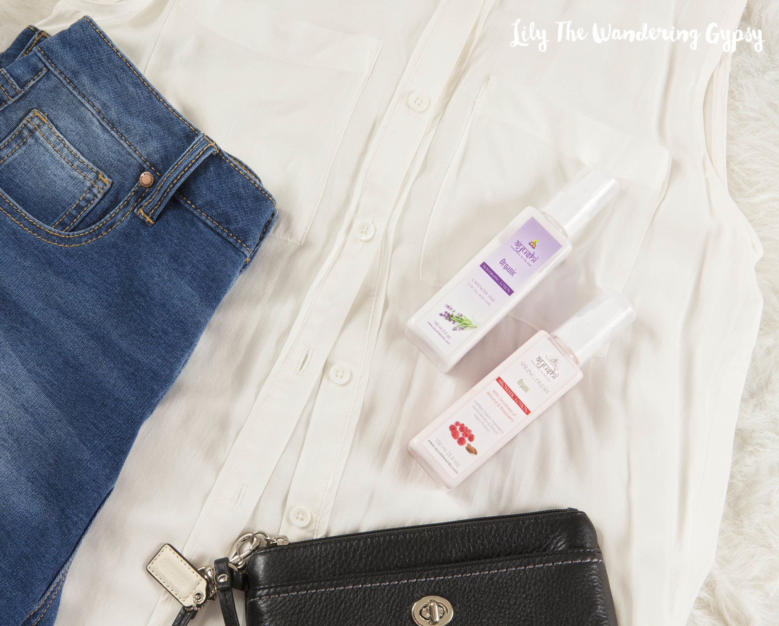 Outfit + Organic Lotions by Ayushi