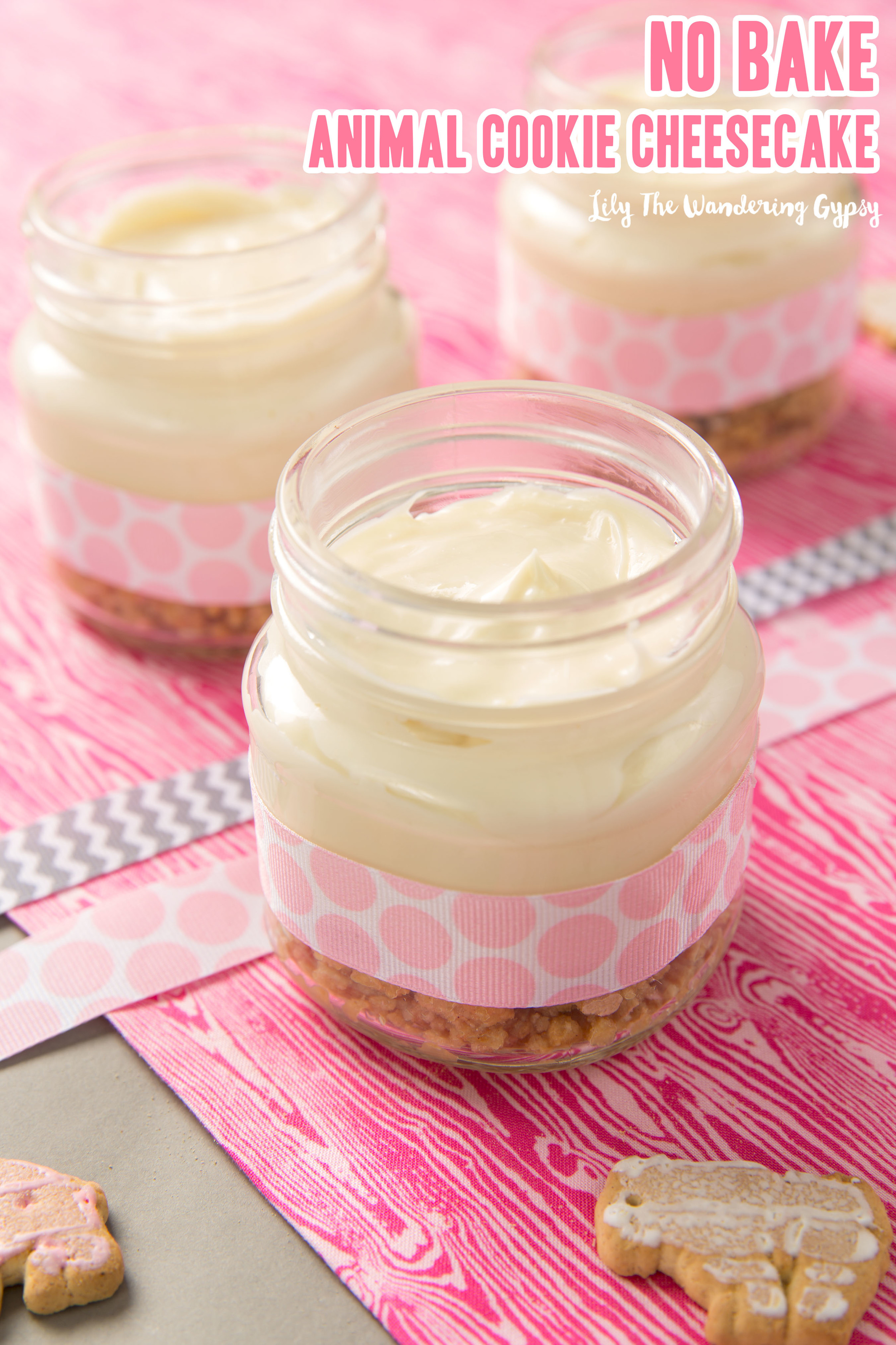 Mix up your filling and carefully spoon the filling into each jar.