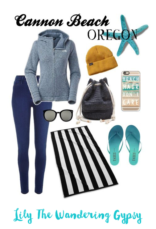 Here is a cute outfit idea of what to wear to Cannon Beach in the mornings and evenings.