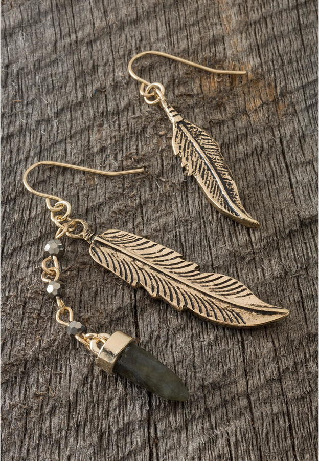 Boho Feather Earrings -  Shop Here