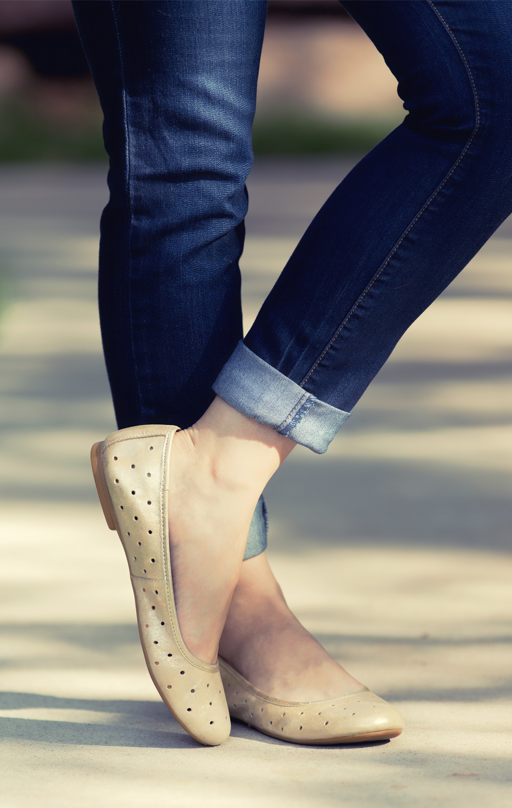 Kork Ease Flats + Free People Jeans