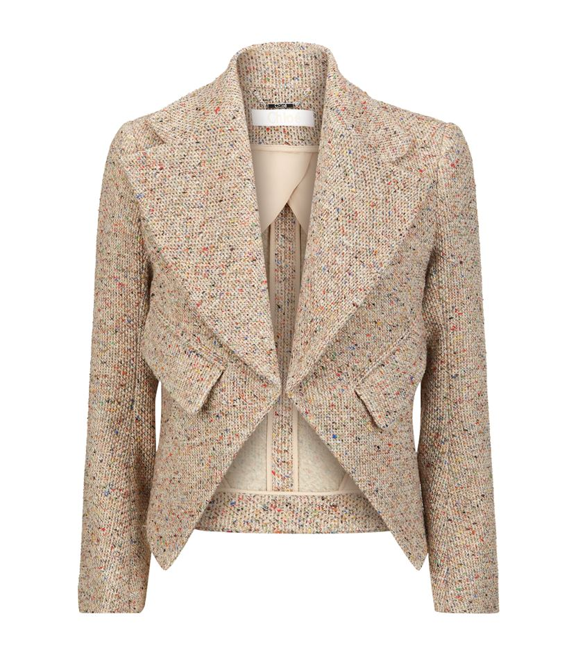 This exact  Chloe Blazer  is sold out, but you can find a similar one  here .