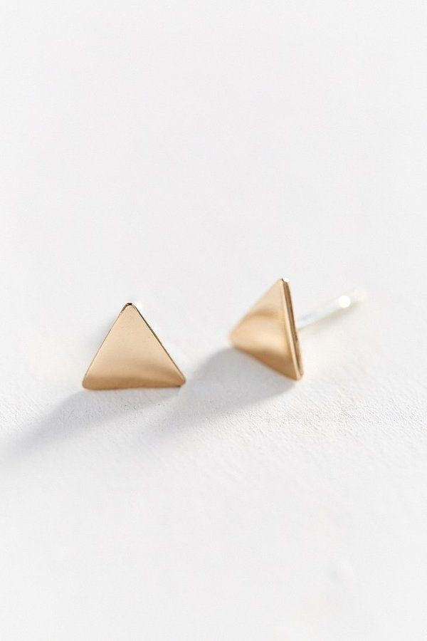 Gold Triangle Earrings  here .