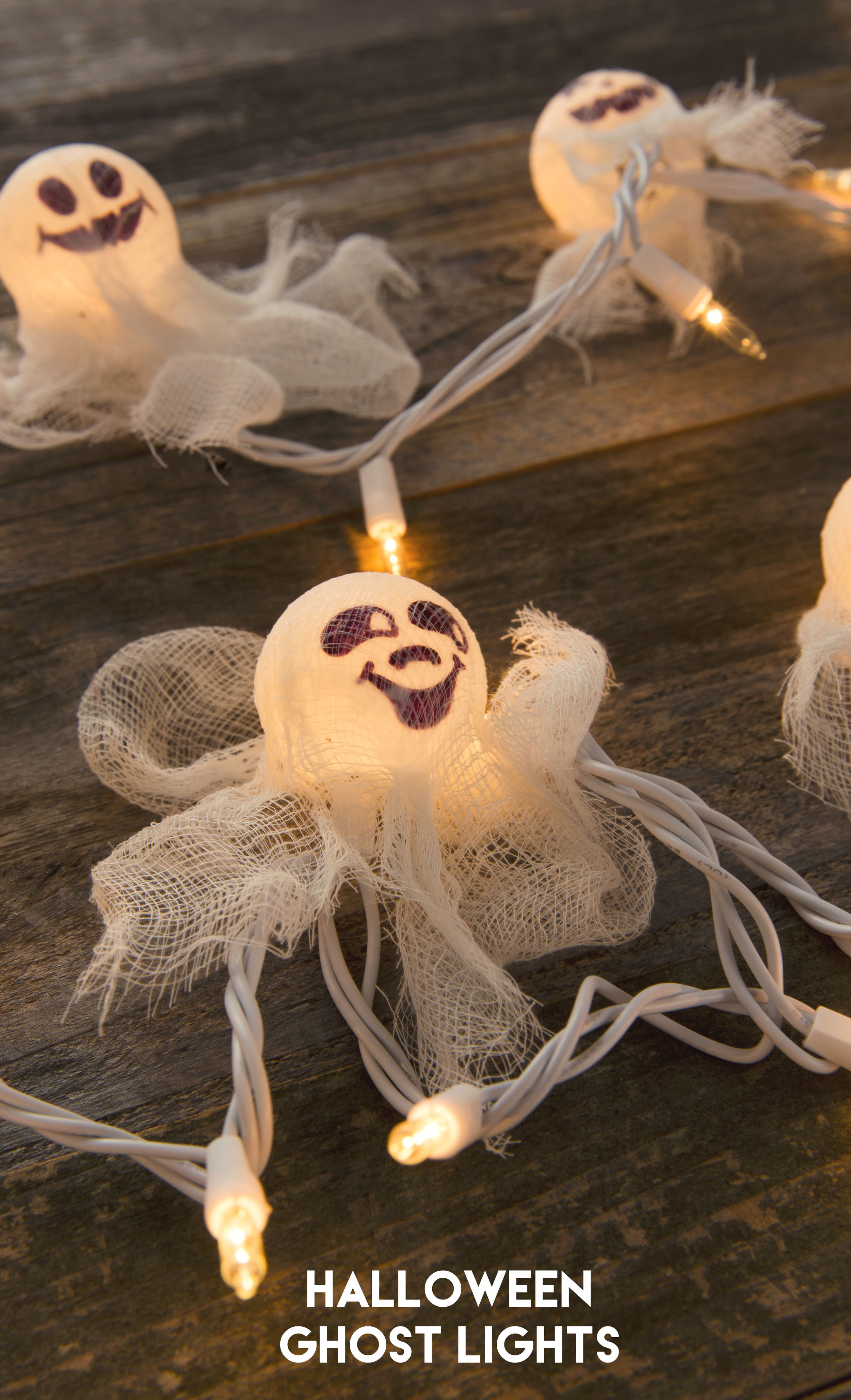 Cute Halloween Ghost Lights DIY