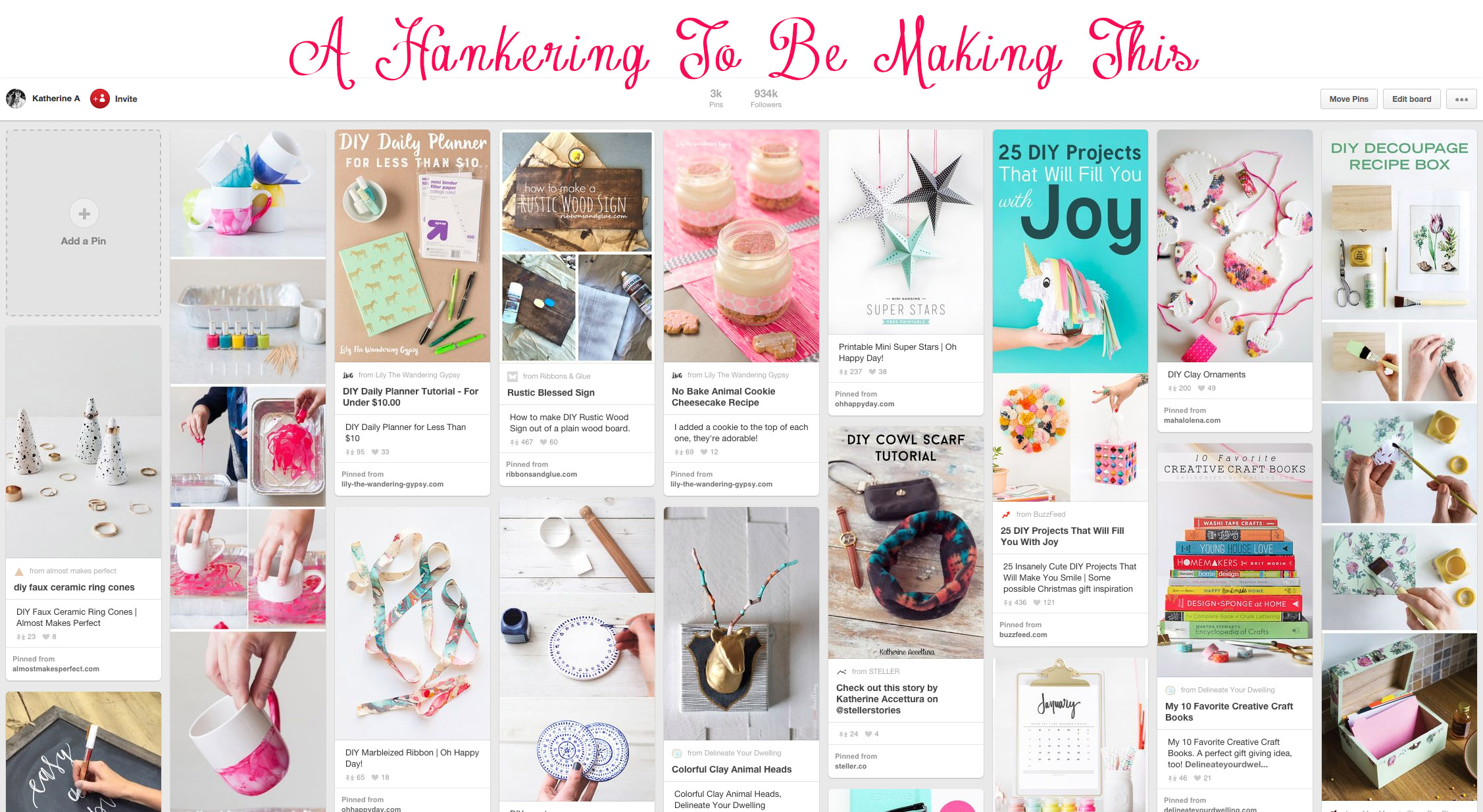 Also, check out my pin board,  A Hankering To Be Making This  for TONS of ideas!