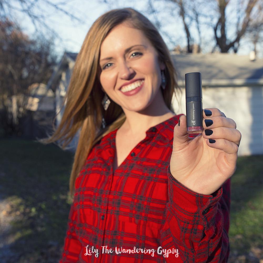 I'm loving this moisturizing lipstick from e.l.f. in Marsala Blush.