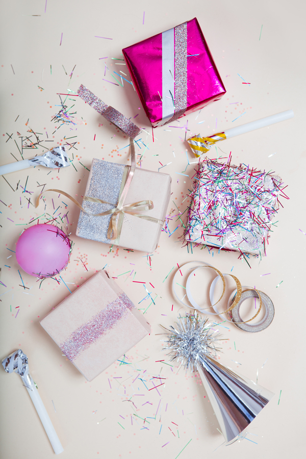 Subtle Revelry -  Confetti Gift Wrap Party