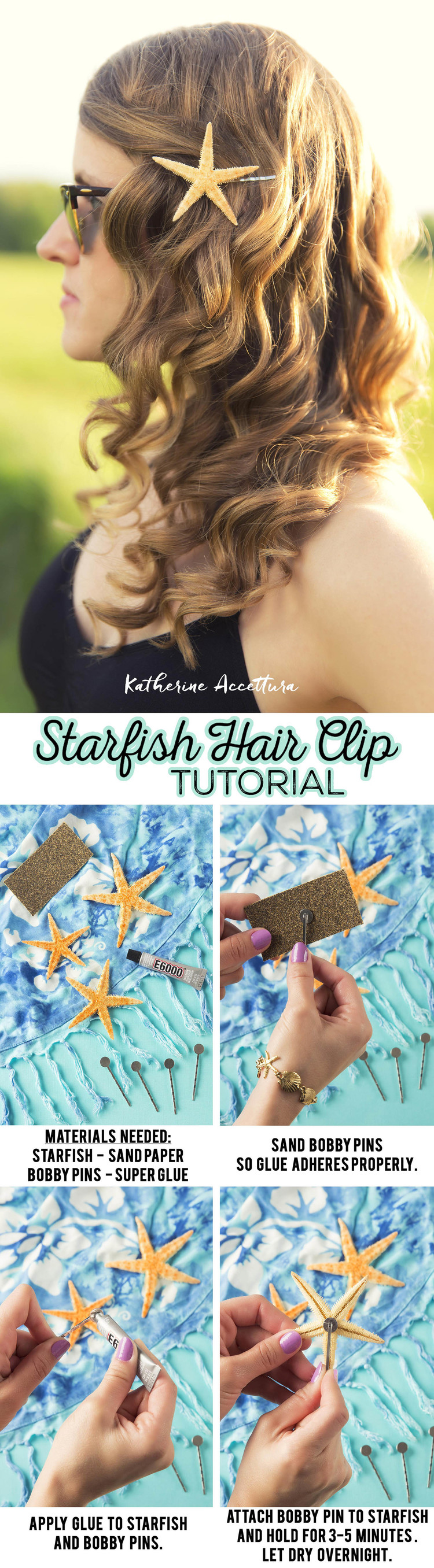 Starfish Bobby Pin Tutorial