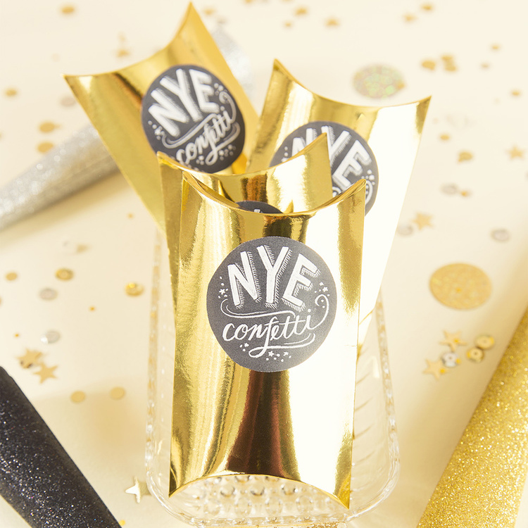 New Year's Eve Confetti Pillows