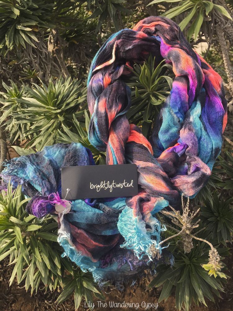 Brightly Twisted Scarf