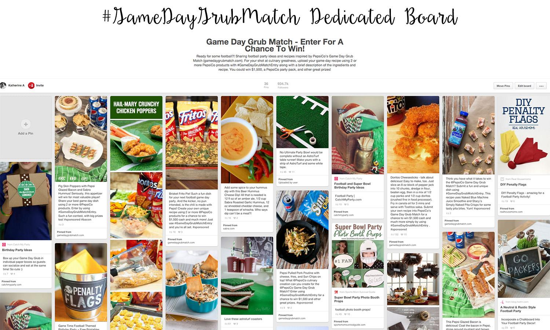 #GameDayGrubMatch Dedicated Board