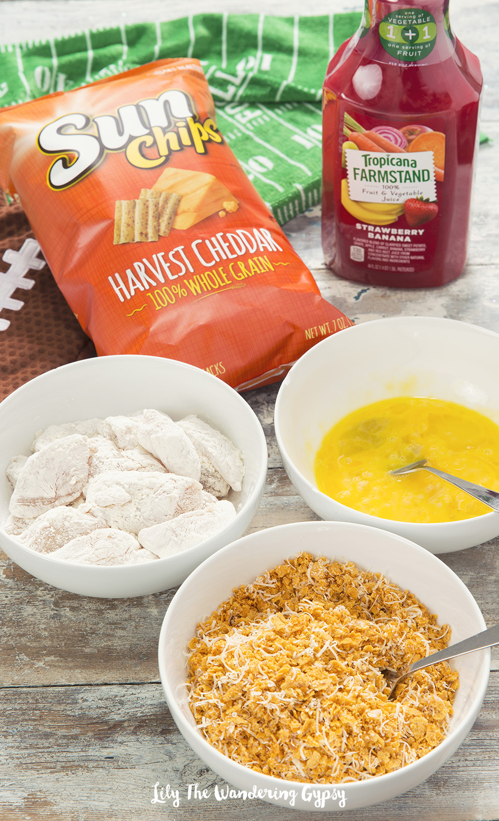 Sun Chips Popcorn Chicken + Tropicana Dipping Sauce #GameDayGrubMatchEntry