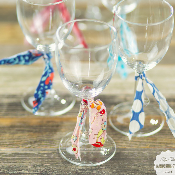 DIY Fabric Wine Markers