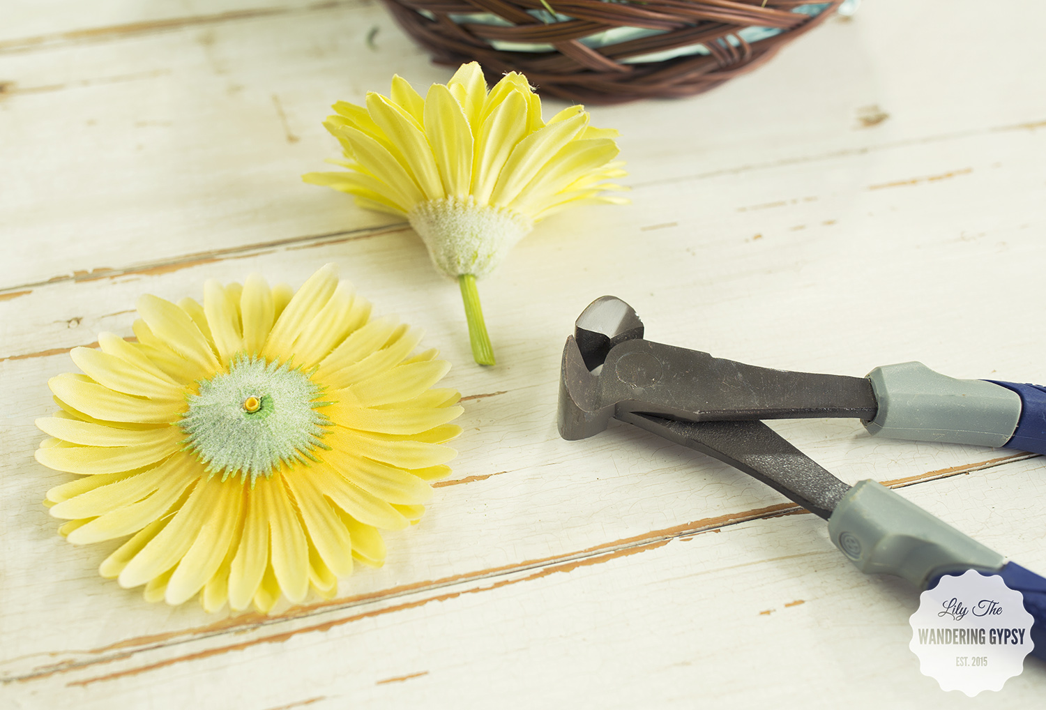 Use wire cutters to easily remove flower heads from their stems.