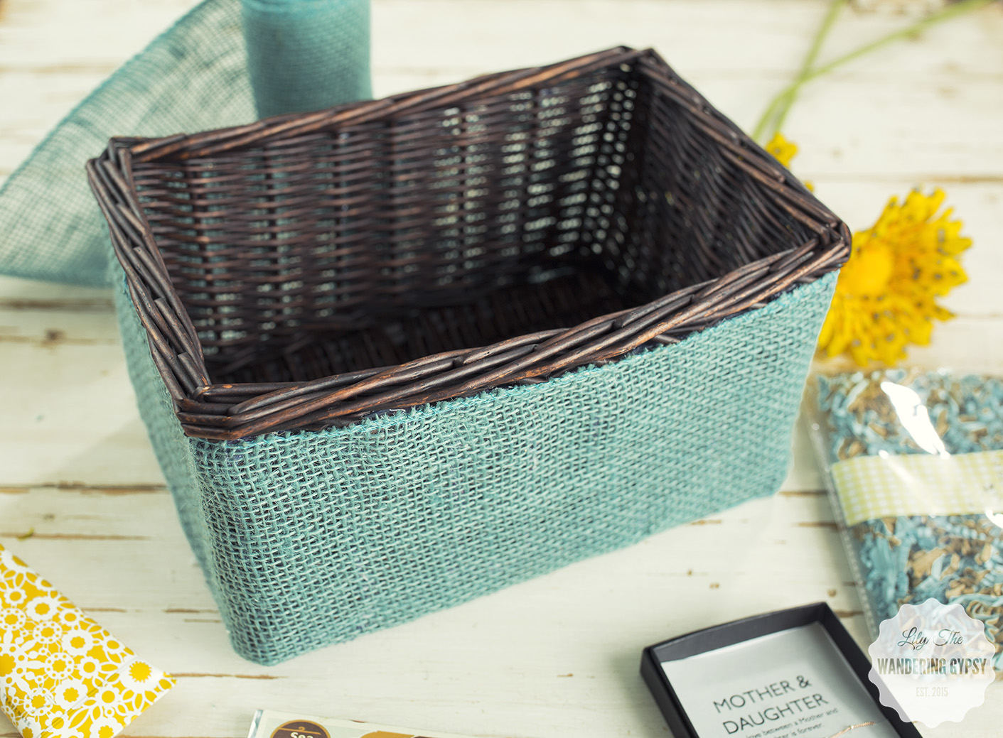 Check out this cute gift basket DIY project!
