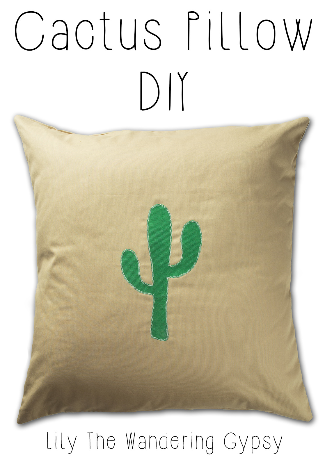 Southwest Inspired Cactus Pillow Tutorial