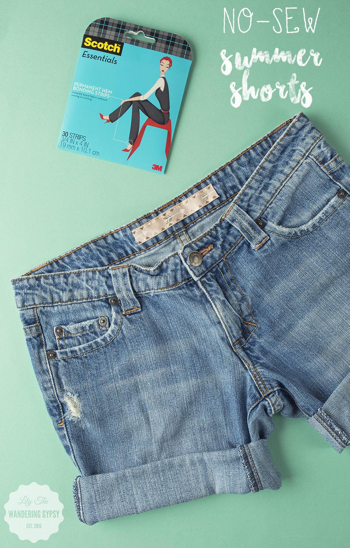 DIY No-Sew Shorts