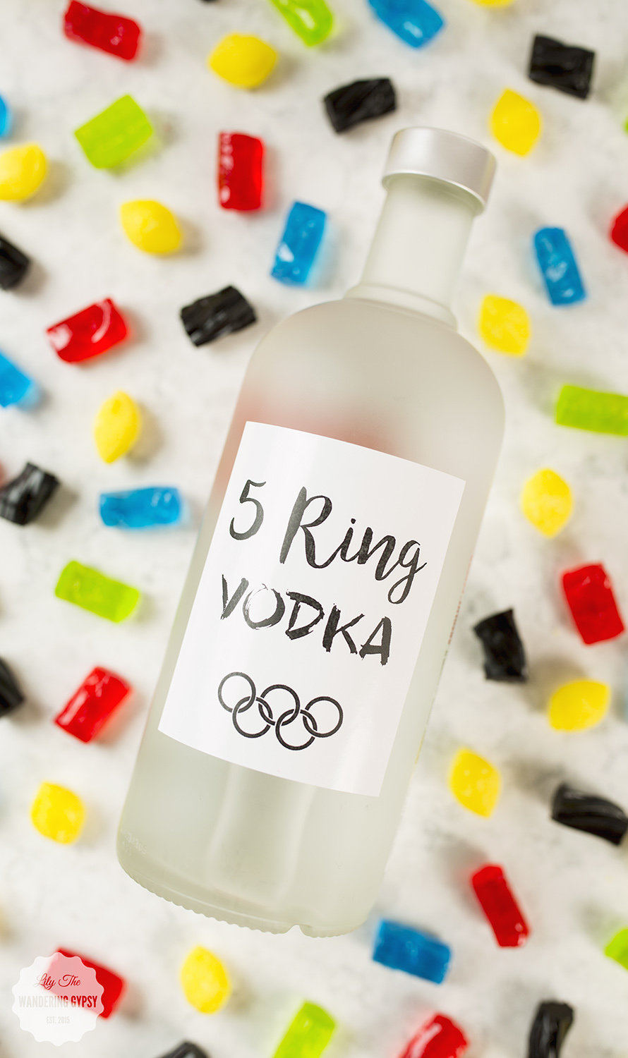 DIY Candy Colored Vodka