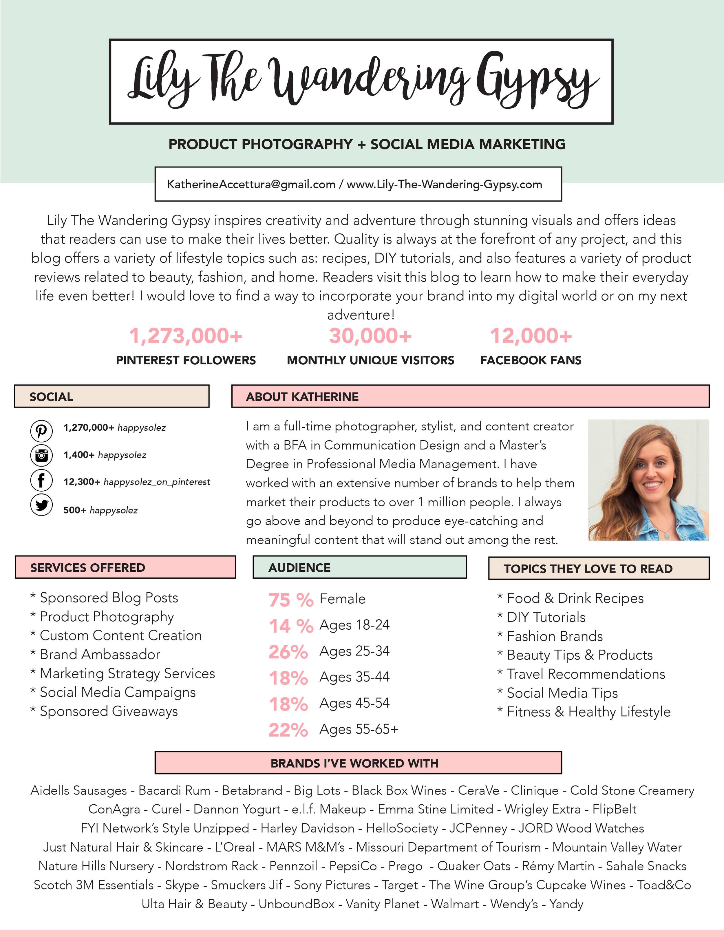 Katherine Accettura Media Kit 2016