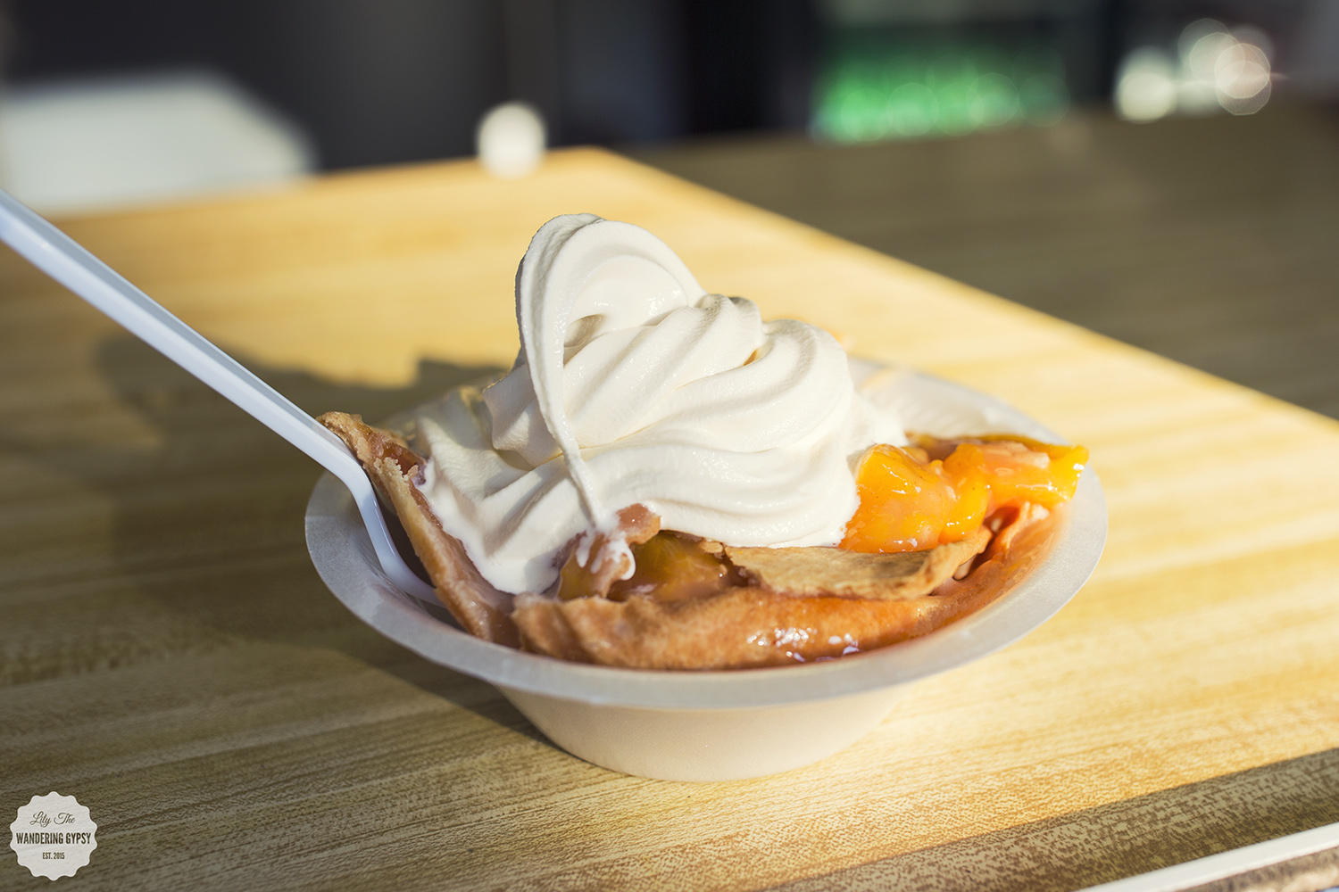 peach pie + ice cream - Flamm Orchards - Cobden. IL