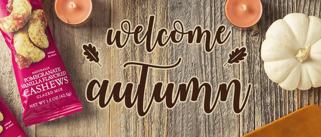 Welcome Autumn with Sahale Snacks