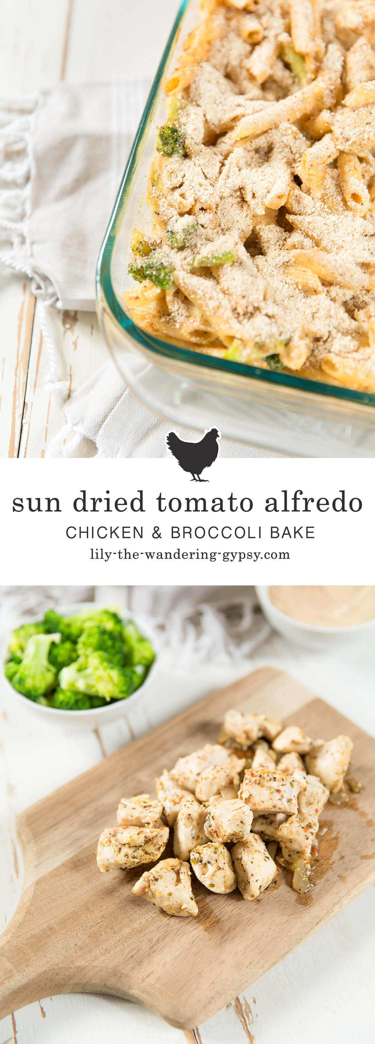 Sun Dried tomato Alfredo Chicken and Broccoli Bake Recipe