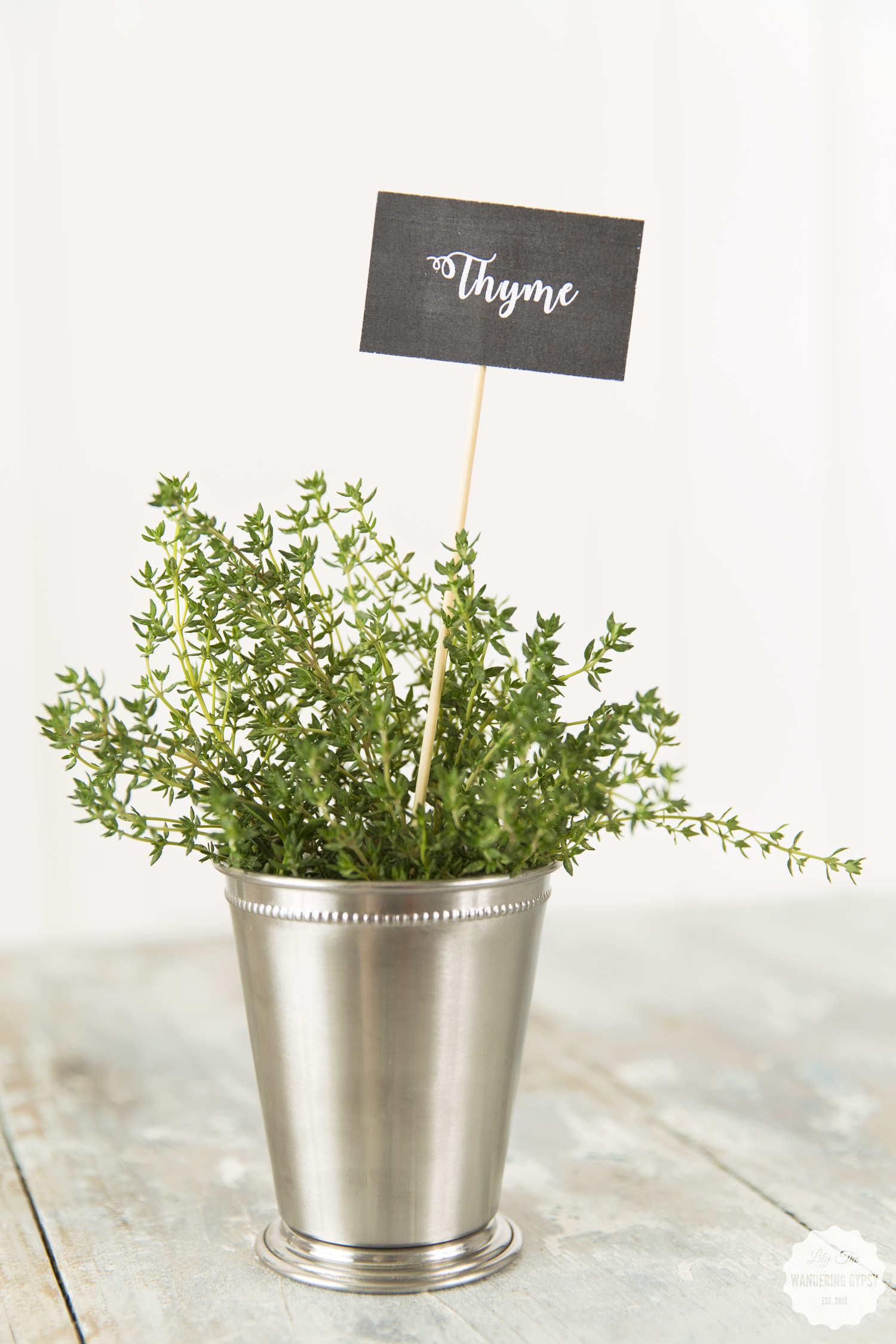 #WhatInconvenience - Food Photography Party Ideas, thyme in a cute container