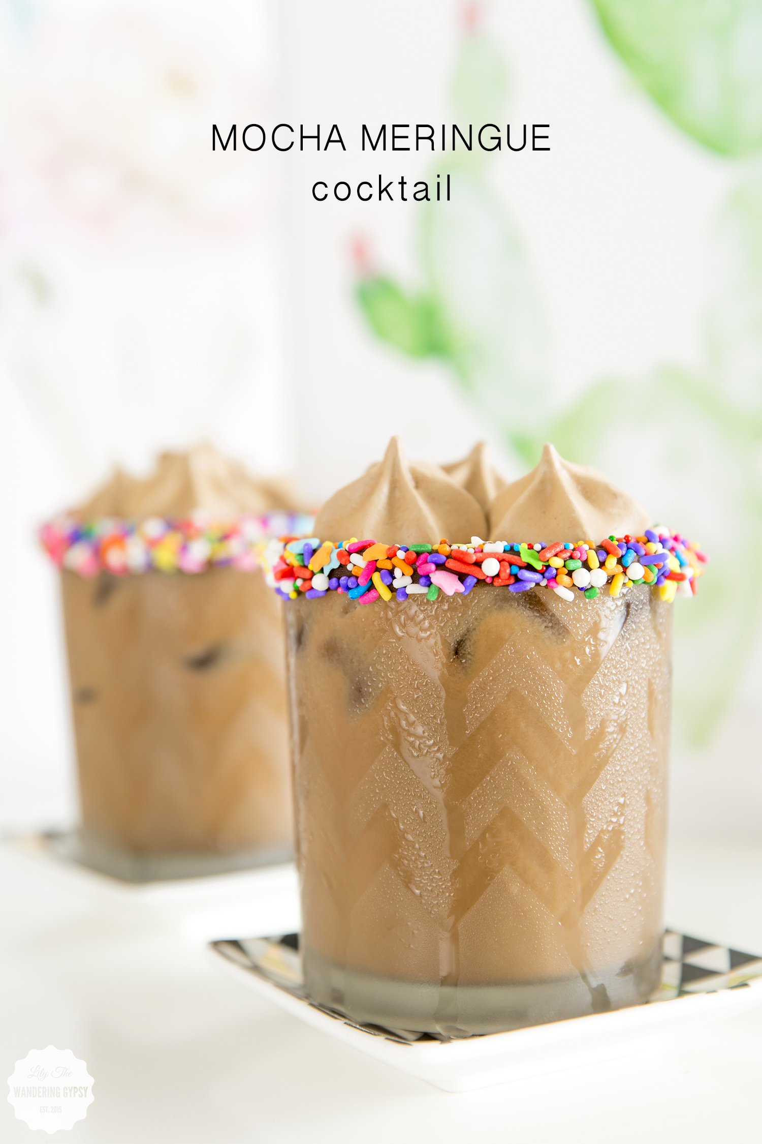 yummy mocha meringue cocktail