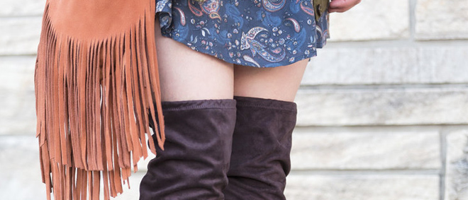 Over The Knee Boots - With Fringe + Paisley