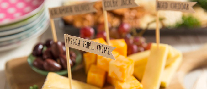 Make your party more elegant with DIY Cheese Markers