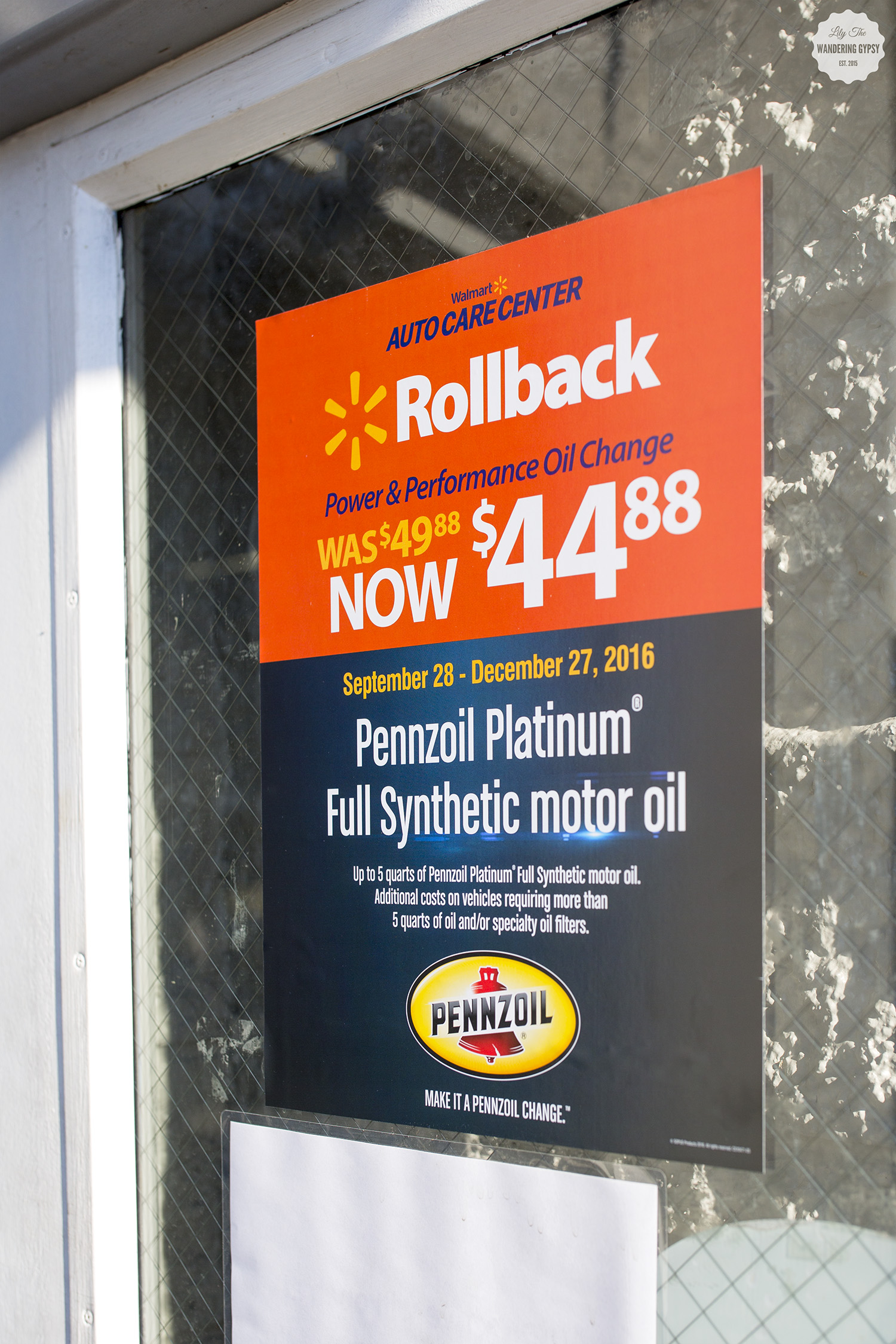 Pennzoil at Walmart #FallForPennzoil