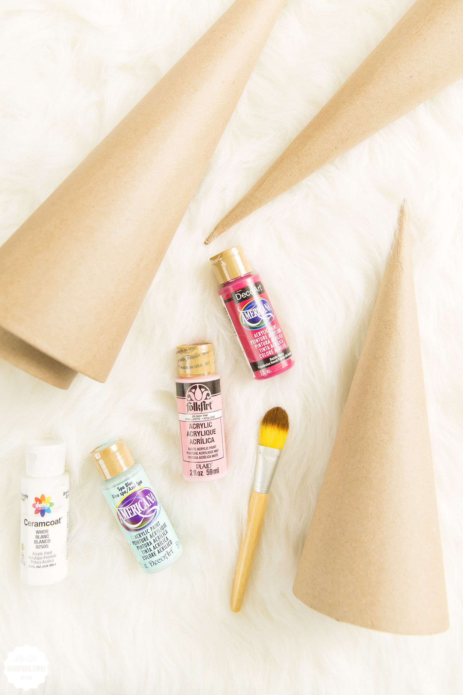 cute DIY painted trees