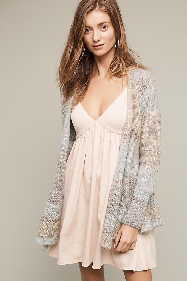 Knitted Peplum Cardigan