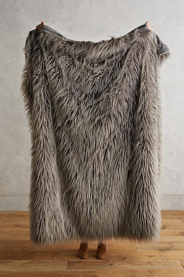Chroma Faux-Fur Throw Blanket