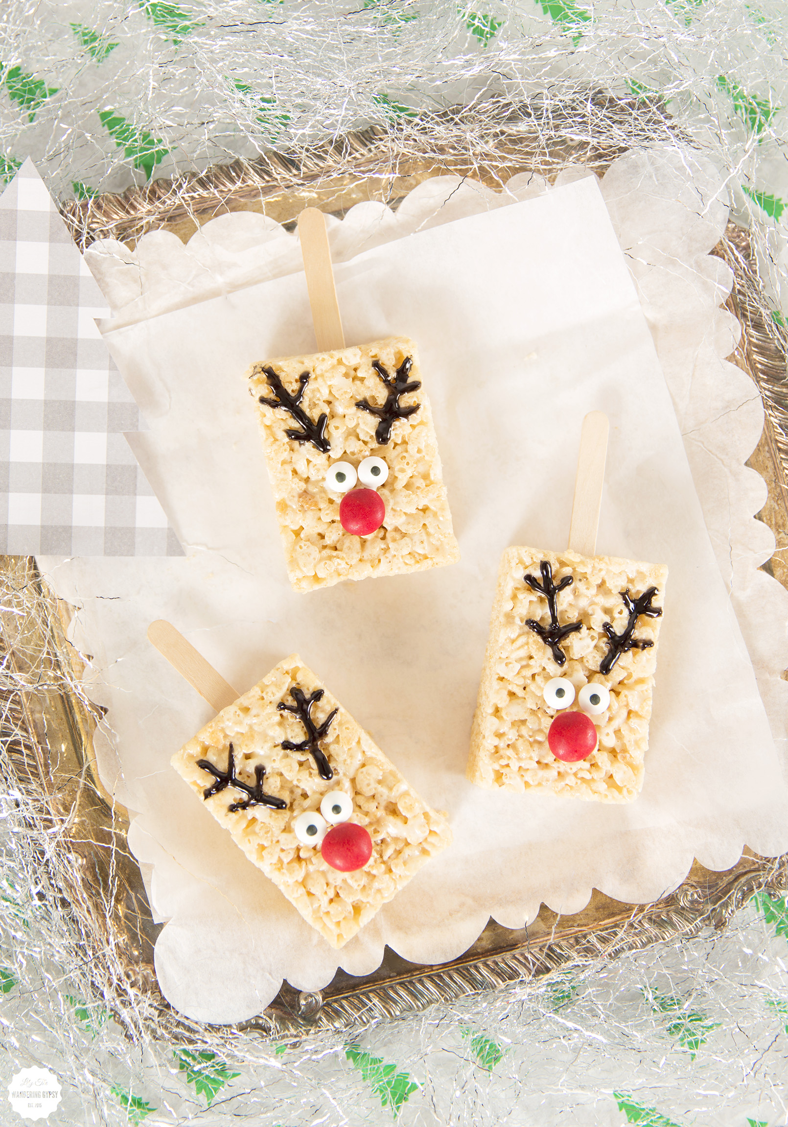 Rice Cereal Reindeer Treats