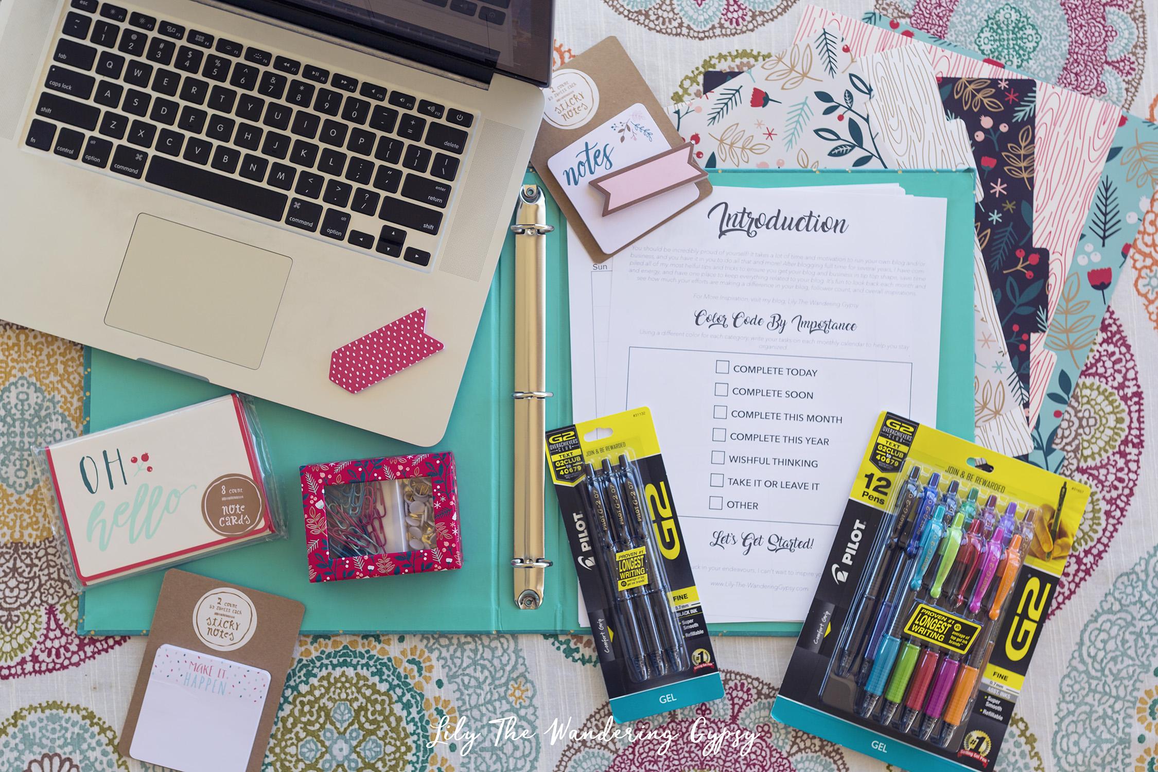 Free Printable Blogging Calendar