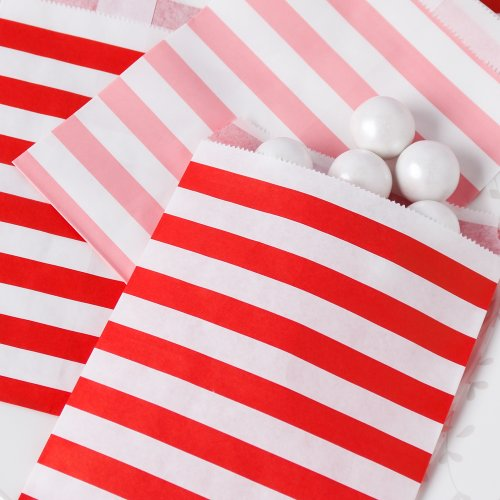 Striped Treat Bags for Valentine's Day