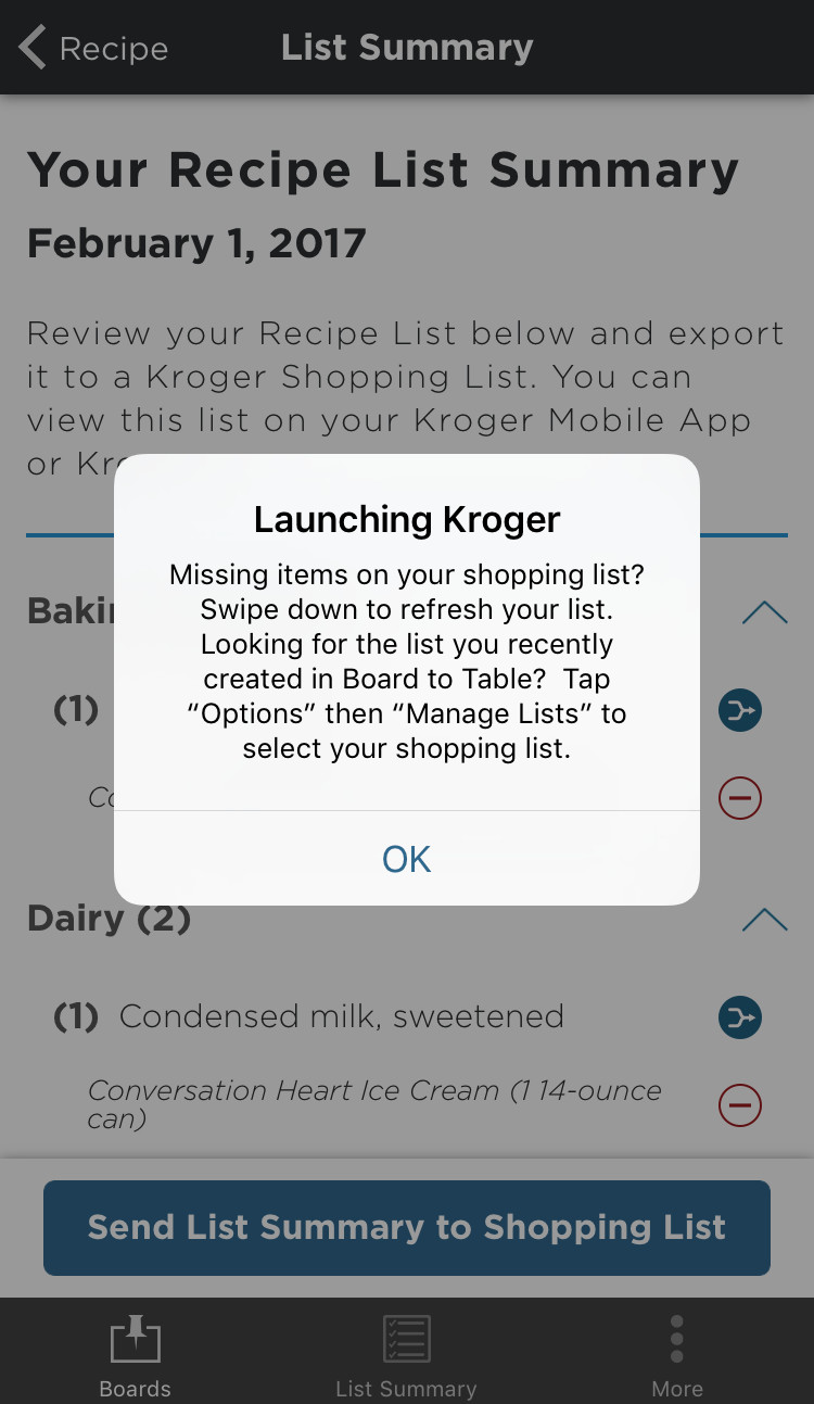 Board To Table App