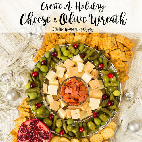 Cheese + Olive Wreath