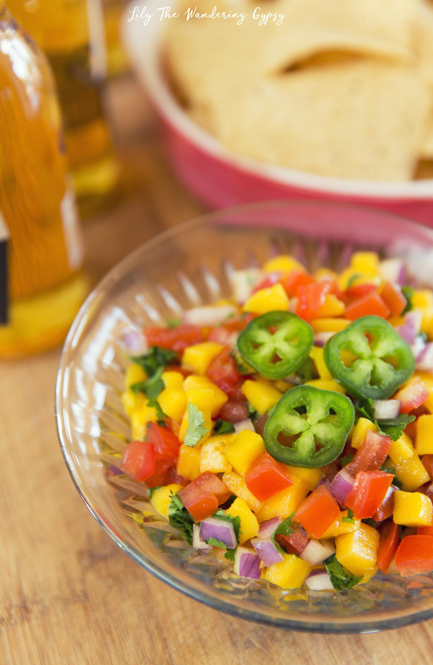 Fresh Mango Salsa Recipe by Lily The Wandering Gypsy