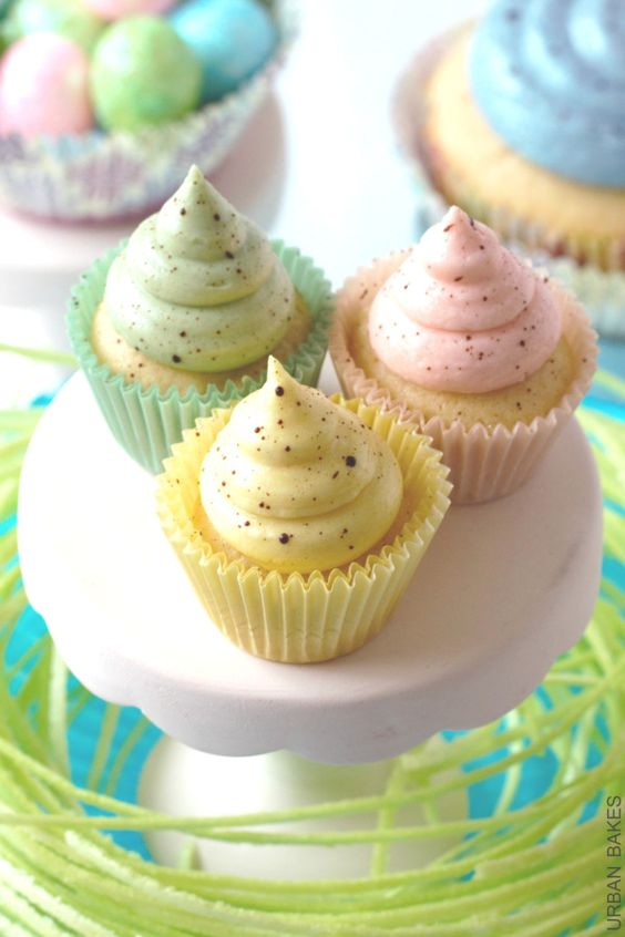 Speckled Easter or Spring Cupcakes Recipe