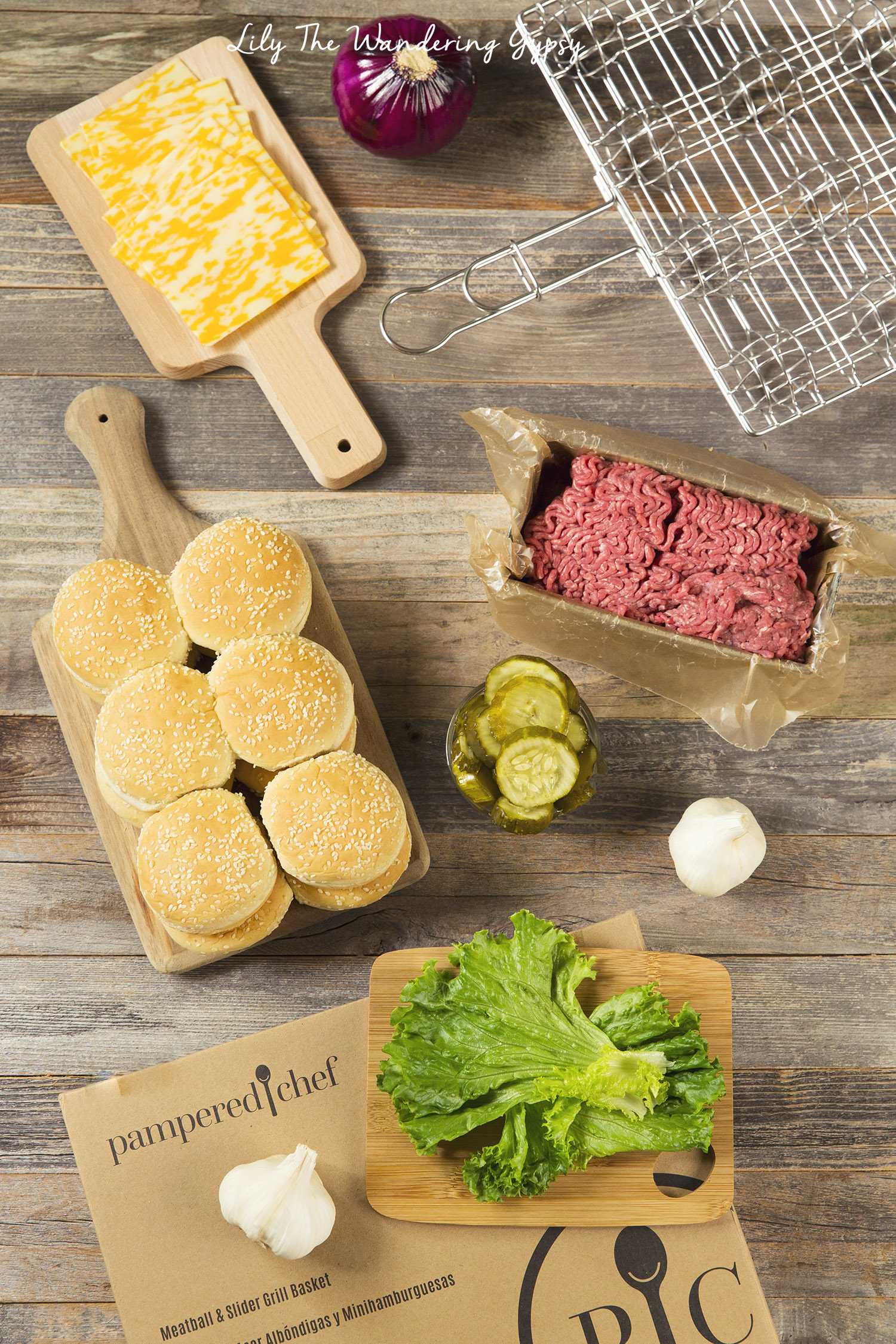 Making Slider Burgers with Pampered Chef