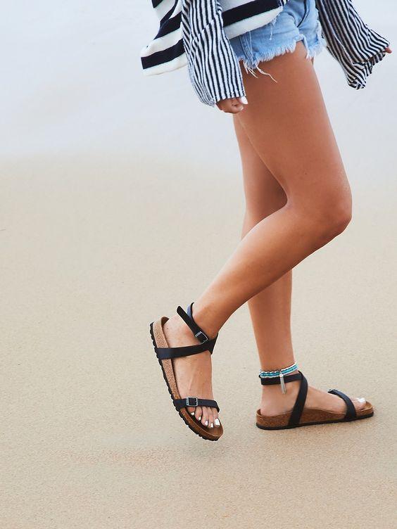 Cute Shorts + Sandals