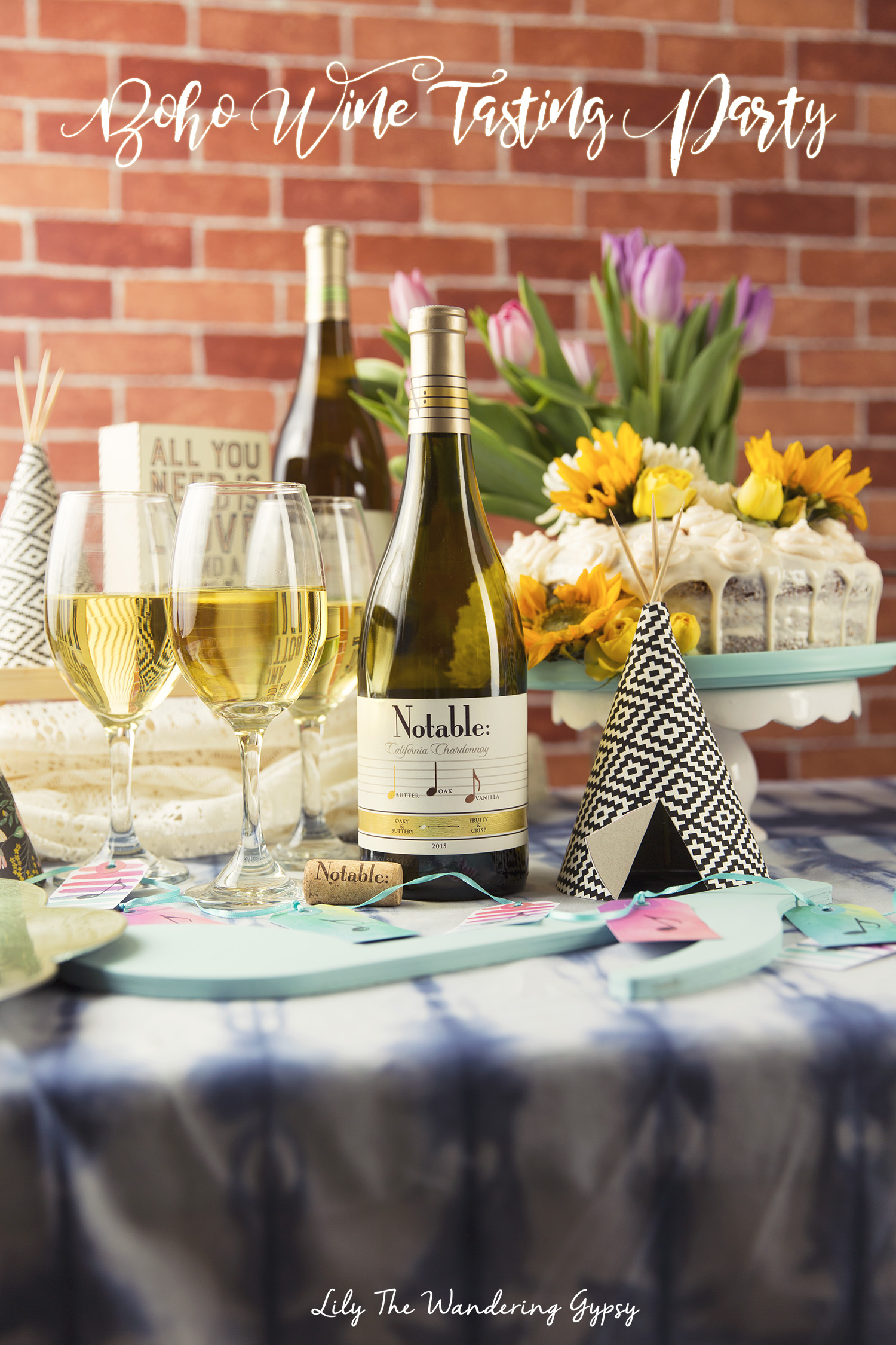 #Chardonnation #SpringWine - Boho Wine Party